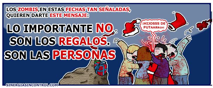 Lo que es verdaderamente importante en navidad (zombie style)